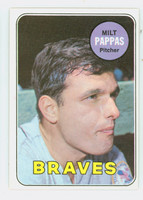 1969 Topps Baseball 79 Milt Pappas Atlanta Braves Excellent to Mint