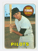1969 Topps Baseball 83 Mike Ferraro Seattle Pilots Excellent