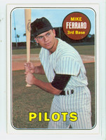 1969 Topps Baseball 83 Mike Ferraro Seattle Pilots Excellent to Mint