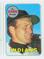 1969 Topps Baseball 91 Al Dark Cleveland Indians Excellent to Excellent Plus