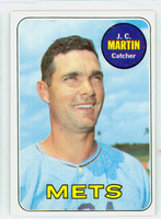 1969 Topps Baseball 112 JC Martin New York Mets Excellent to Mint