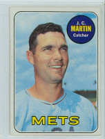 1969 Topps Baseball 112 JC Martin New York Mets Near-Mint Plus