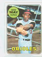 1969 Topps Baseball 113 Dave May Baltimore Orioles Excellent to Excellent Plus