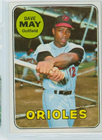 1969 Topps Baseball 113 Dave May Baltimore Orioles Near-Mint