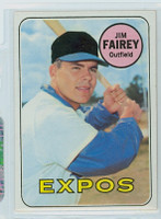 1969 Topps Baseball 117 Jim Fairey Montreal Expos Near-Mint to Mint