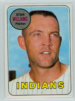 1969 Topps Baseball 118 Stan Williams Cleveland Indians Near-Mint Plus