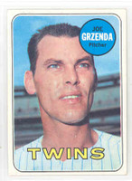 1969 Topps Baseball 121 Joe Grzenda Minnesota Twins Near-Mint