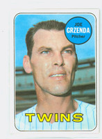 1969 Topps Baseball 121 Joe Grzenda Minnesota Twins Near-Mint Plus