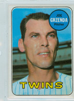 1969 Topps Baseball 121 Joe Grzenda Minnesota Twins Near-Mint to Mint
