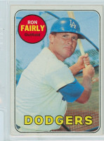 1969 Topps Baseball 122 Ron Fairly Los Angeles Dodgers Near-Mint Plus