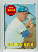 1969 Topps Baseball 122 Ron Fairly Los Angeles Dodgers Near-Mint to Mint