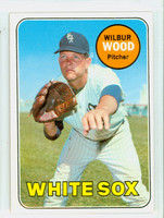 1969 Topps Baseball 123 Wilbur Wood Chicago White Sox Excellent to Mint