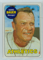 1969 Topps Baseball 124 Hank Bauer Oakland Athletics Near-Mint to Mint