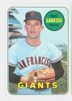 1969 Topps Baseball 125 Ray Sadecki San Francisco Giants Excellent to Excellent Plus