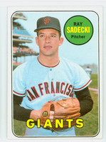 1969 Topps Baseball 125 Ray Sadecki San Francisco Giants Excellent to Mint