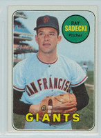 1969 Topps Baseball 125 Ray Sadecki San Francisco Giants Near-Mint