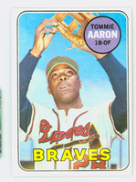 1969 Topps Baseball 128 Tommie Aaron Atlanta Braves Excellent to Mint