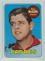 1969 Topps Baseball 129 Bill McCool San Diego Padres Near-Mint Plus