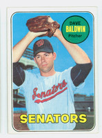 1969 Topps Baseball 132 Dave Baldwin Washington Senators Excellent to Excellent Plus