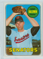 1969 Topps Baseball 132 Dave Baldwin Washington Senators Near-Mint to Mint