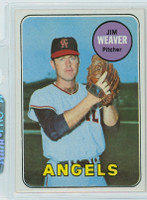 1969 Topps Baseball 134 Jim Weaver California Angels Near-Mint to Mint
