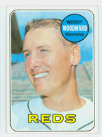 1969 Topps Baseball 142 Woody Woodward Cincinnati Reds Excellent to Mint