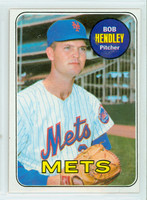 1969 Topps Baseball 144 Bob Hendley New York Mets Excellent