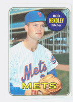 1969 Topps Baseball 144 Bob Hendley New York Mets Excellent to Excellent Plus