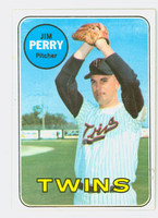 1969 Topps Baseball 146 Jim Perry Minnesota Twins Excellent to Mint