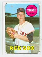 1969 Topps Baseball 148 Lee Stange Boston Red Sox Excellent to Mint
