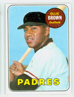 1969 Topps Baseball 149 Ollie Brown San Diego Padres Excellent to Excellent Plus