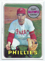 1969 Topps Baseball 151 Clay Dalrymple PHILLIES VAR PHIL  Philadelphia Phillies Very Good to Excellent