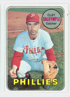 1969 Topps Baseball 151 Clay Dalrymple PHILLIES VAR PHIL  Philadelphia Phillies Excellent