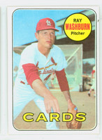 1969 Topps Baseball 415 Ray Washburn St. Louis Cardinals Excellent