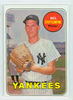 1969 Topps Baseball 470 b Mel Stottlemyre Yellow Letters  New York Yankees Excellent