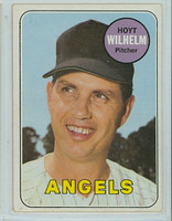 1969 Topps Baseball 565 Hoyt Wilhelm California Angels Very Good to Excellent