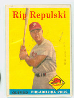 1958 Topps Baseball 14 Rip Repulski Philadelphia Phillies Good to Very Good