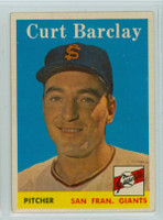 1958 Topps Baseball 21 Curt Barclay San Francisco Giants Excellent
