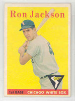 1958 Topps Baseball 26 Ron Jackson Chicago White Sox Excellent to Mint