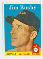 1958 Topps Baseball 28 Jim Busby Baltimore Orioles Good to Very Good