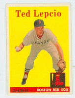 1958 Topps Baseball 29 Ted Lepcio Boston Red Sox Excellent to Mint