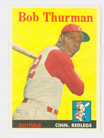 1958 Topps Baseball 34 Bob Thurman Cincinnati Reds Excellent to Mint
