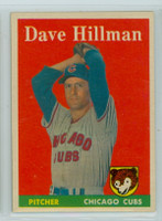 1958 Topps Baseball 41 Dave Hillman Chicago Cubs Excellent