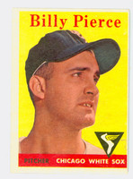 1958 Topps Baseball 50 b Billy Pierce Chicago White Sox Very Good to Excellent