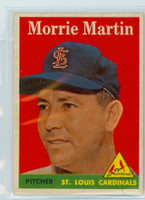 1958 Topps Baseball 53 b Morrie Martin St. Louis Cardinals Excellent to Mint