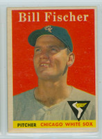 1958 Topps Baseball 56 Bill Fischer Chicago White Sox Excellent to Mint
