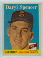 1958 Topps Baseball 68 Daryl Spencer San Francisco Giants Very Good to Excellent