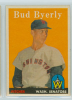 1958 Topps Baseball 72 Bud Byerly Washington Senators Near-Mint
