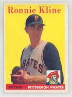 1958 Topps Baseball 82 Ron Kline Pittsburgh Pirates Excellent to Mint