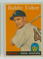 1958 Topps Baseball 124 Bobby Usher Washington Senators Excellent